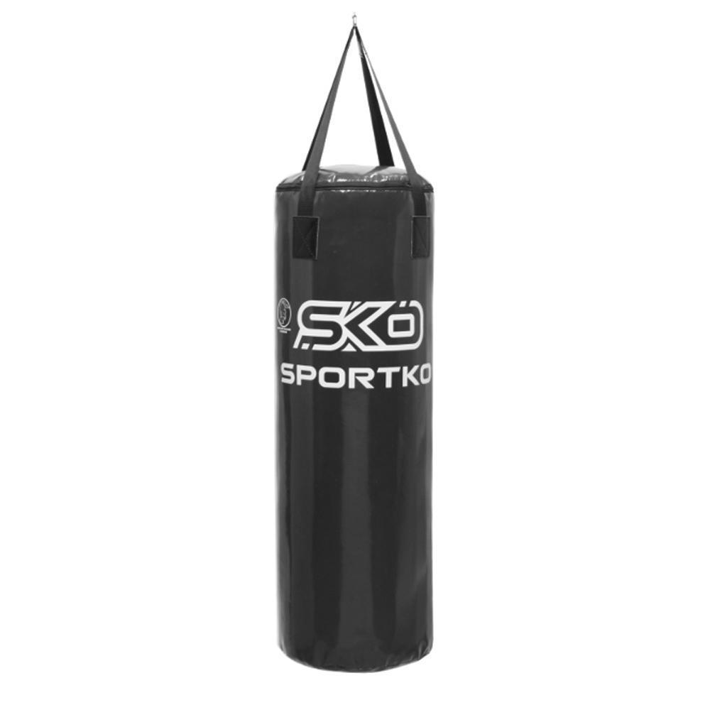 Мешок боксерский ПВХ Sportko Боченок h-75см, ᴓ-29см, вес 15кг со стропой арт. МП6 чёрный