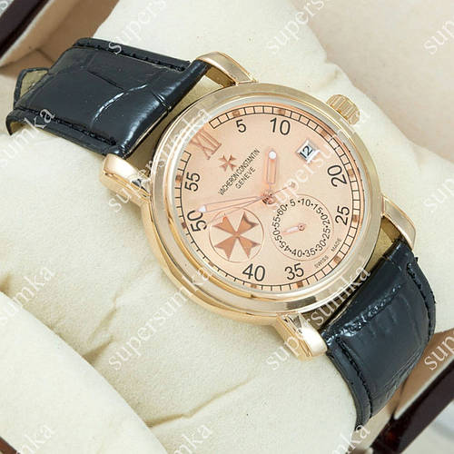 Яркие наручные часы Vacheron Constantin geneve Pink Gold/Pink 2431