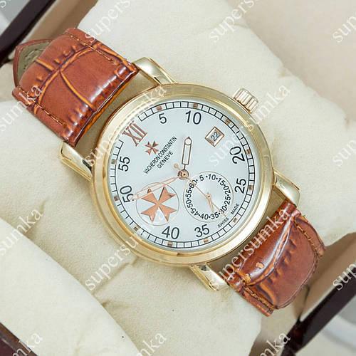 Механические наручные часы Vacheron Constantin Brown/Gold/White 2434