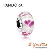 Pandora шарм СЕРДЦА МУРАНО 791649 серебро 925 Пандора оригинал