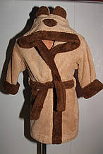 Халат детский Зайка DOROTA  92-98 р коричневый.