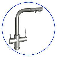 Трёхпозиционный комбинированный кухонный смеситель для холодной, горячей и фильтрованн, FXFCH13-3-M_K