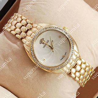 Модные наручные часы Versace Gold/White 4603