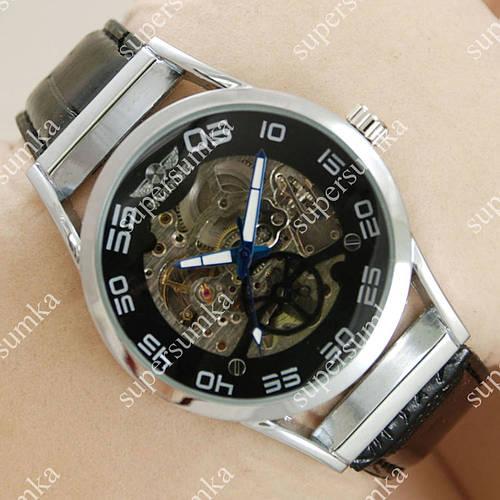 Механические наручные часы Winner Silver/Black/Silver 2505