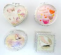 Пластмассовые шкатулки с зеркалом 4 в 1 S-422