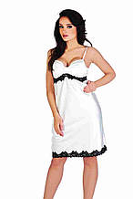 Сорочка атласна арт 925 De Lafense Польща S Білий