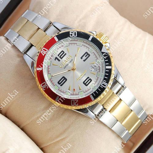 Модные наручные часы Слава Созвездие Mechanic Silver-gold/Silver 2617