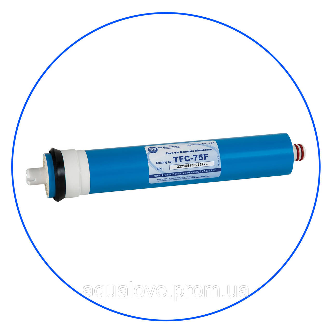 Мембрана обратного осмоса AQUAFILTER®, производительность 75 GPD, TFC75F