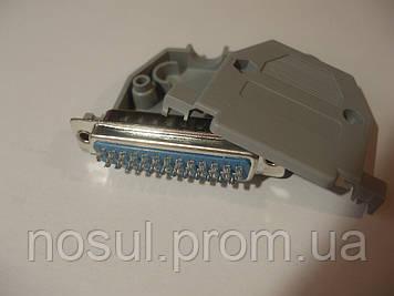 Набор разъем LPT DB25 IEEE1284 male папа и корпус кожух с винтами коннектор лпт