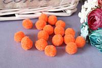 Мини-помпончики, d около 1.5 см, 20 шт/уп., оранжвого цвета, фото 1