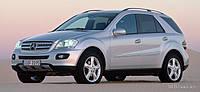 Брызговики оригинальные Mercedes Benz ML 164 без порогов 2005-2012 (AVTM) комплект 4-шт.