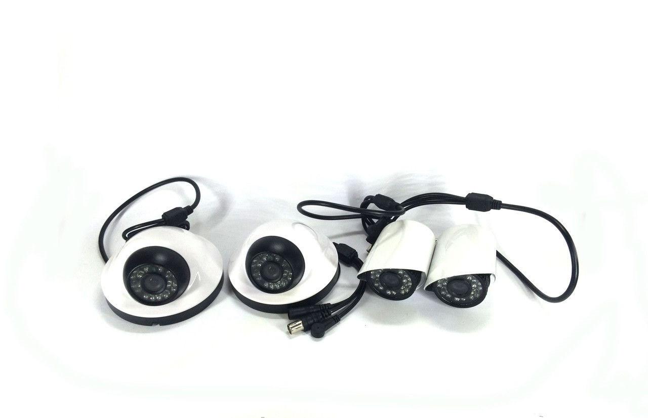 Комплект камер відеоспостереження DVR KIT AHD 7904 камери 4 шт для внутрішнього та зовнішнього спостереження