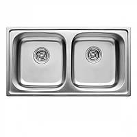Двойная кухонная мойка Germece 7843D микро-декор