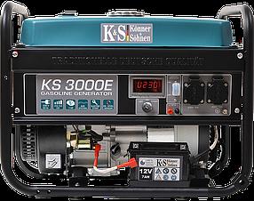 Генератор бензиновый Konner&Sohnen KS 3000E (3кВт)