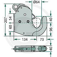 Крюк нижнего соединения навески трактора (для приваривания)