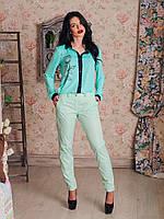 Стильные женские брюки к низу зауженные  с карманами