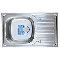 Мойка кухонная врезная 78*50 см микро-декор Germece 0,8 мм
