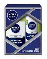 Nivea Подарочный набор для мужчин пена +бальзам