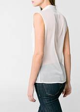 Блуза женская MANGO, размер XL шифоновая с кружевом, фото 3