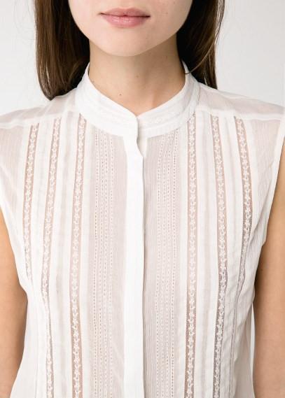 Блуза женская MANGO, размер XL шифоновая с кружевом