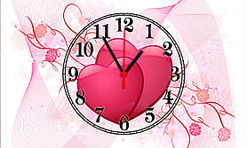 """Часы настенные стеклянные """"love story"""""""