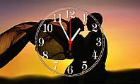 """Часы настенные стеклянные """"Romantic couple"""", фото 1"""