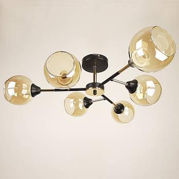 Люстра в стилі лофт на 6 лампочок