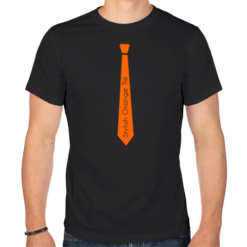 """Футболка """"Стильный оранжевый галстук"""""""