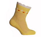 Носки детские летние желтого цвета, р.12, фото 1
