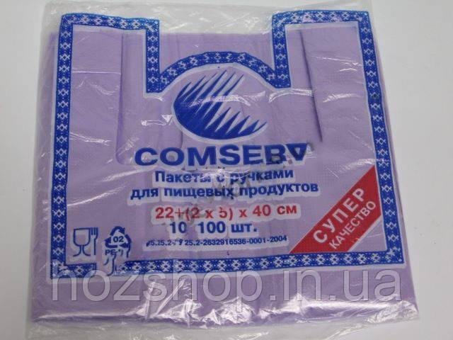 "Пакет майка 22*40""Comserv""(уп.100шт)"