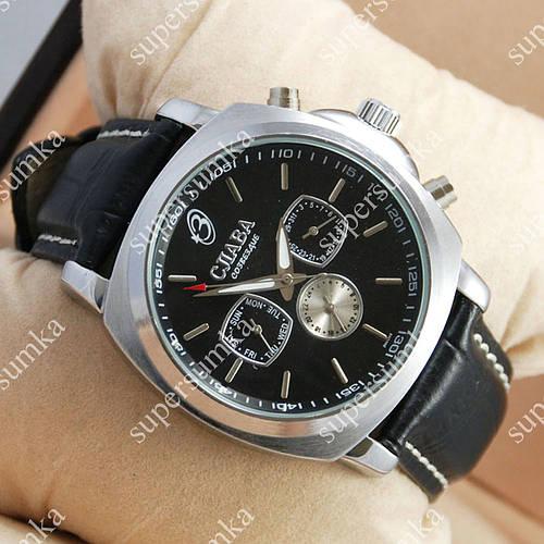 Практичные наручные часы Слава Созвездие Mechanic Silver/Black 2639