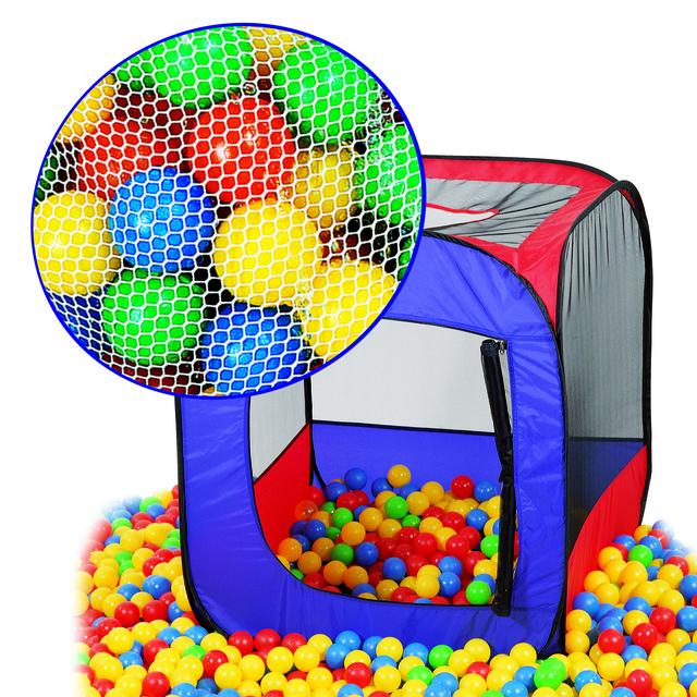 Домики, палатки, шарики, корзины для игрушек