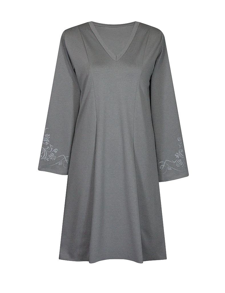 Платье с V-образным вырезом Винтаж