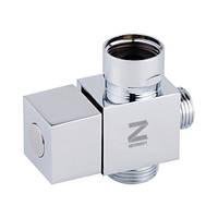 Кран Луна (дивертор)  LD-33-2 квадрат картриджное 2х позиционное переключение (Touch-Z - Китай)