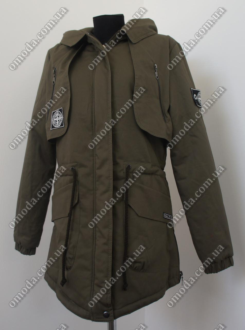 Куртка парка весенняя хаки 44-52р