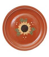 Тарелка глазурованная. Художественная роспись. Диаметр 20 см.