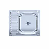 Мойка кухонная  нержавейка 60*50-R Polish (без сифона, накладная, полированная) 0,6мм. (Asil-UA - Украина)