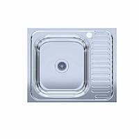 Мойка кухонная  нержавейка 60*50-L Polish (без сифона, накладная, полированная) 0,6мм. (Asil-UA - Украина)