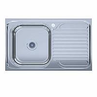Мойка кухонная  нержавейка 50*80-L Polish (без сифона, накладная, полированная) 0,6мм. (Asil-UA - Украина)