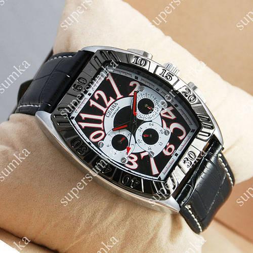 Яркие наручные часы Слава Созвездие Mechanic Silver/Black-white 2649