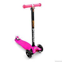 Самокат Best Scooter 466-113 со свет. колесами, руль до 90 см розовый***