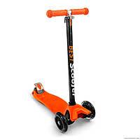Самокат Best Scooter 466-113 со свет. колесами, руль до 90 см оранжевый***