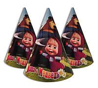 """Колпачки, колпаки праздничные, маленькие. """" Маша и Медведь  """" Карнавальные колпаки"""