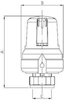"""Термоголовка с вынос. датчиком М28*1,5""""Icma"""" №987. (ICMA - Италия)"""