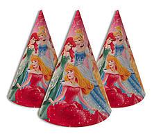 """Колпачки, колпаки праздничные, маленькие. """" Шесть принцесс  """" Карнавальные колпаки"""