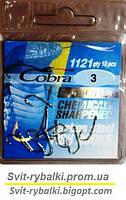 Крючки рыболовные Cobra crystal  №3