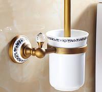 Ершик для унитаза Toilet Brush Crystal Bronze