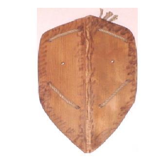 Деревянный рыцарский щит 50см(Ч)