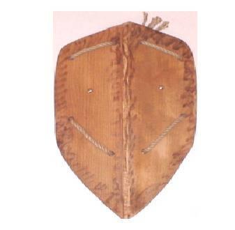 Деревянный рыцарский щит 50см(Ч), фото 2