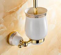 Ершик для унитаза Toilet Brush Pattern Gold